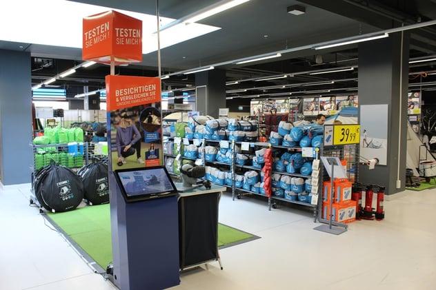 3D Erlebnis beim Einkauf im Decathlon Geschäft