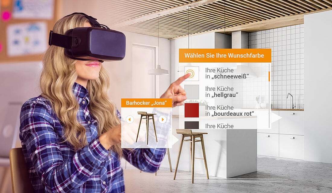 Virtual Reality im Einsatz bei der Küchenplanung