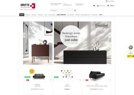 """Onlineshop von """"DRIFTE Wohnform"""" - marahplus Partner"""
